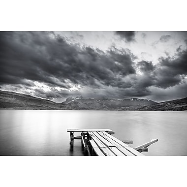 Lake with Dock Mountains & Clouds by Nalbandian, Canvas, 24