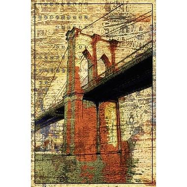 Le pont de Brooklyn par Orlov, toile, 24 x 36 po
