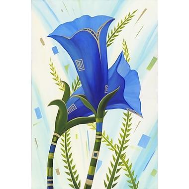 Blue Flowers by Keenan, Canvas, 24