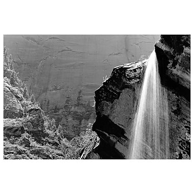 Waterfall Zion National Park, Stretched Canvas, 24