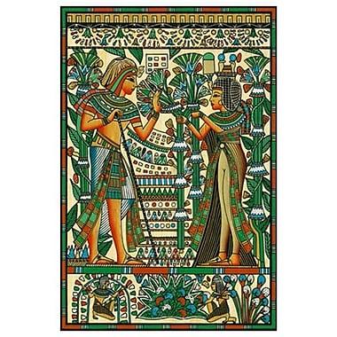 Toutânkhamon et Ânkhésenamon, toile tendue, 24 x 36 po