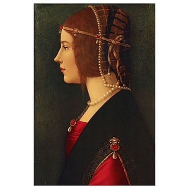 Beatrice d'Este by Da Vinci, Canvas, 24