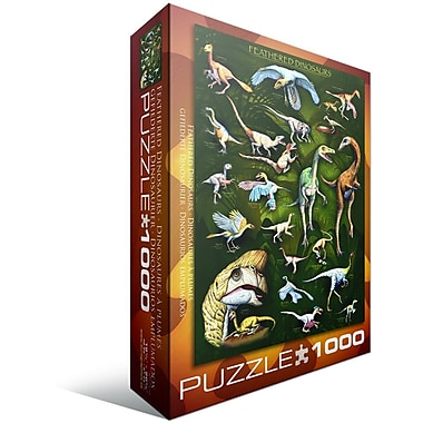 Feathered Dinosaurs Puzzle, 1000 Pieces