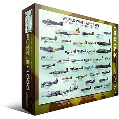 World War II Aircraft Puzzle, 1000 Pieces