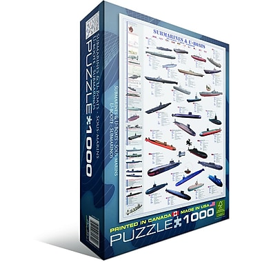 Submarines and U-Boats Puzzle, 1000 Pieces
