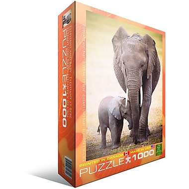 Elephant and Baby Puzzle, 1000 Pieces