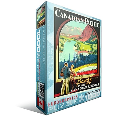 CP Rail in The Canadian Rockies Puzzle, 1000 Pieces