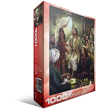 Christian Collection At Jesus' Feet by Nathan Greene Puzzle, 1000 Pieces