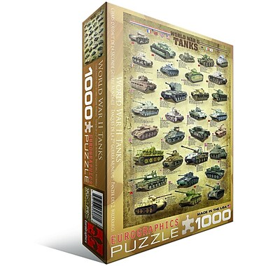 Tanks of WWII Puzzle, 1000 Pieces