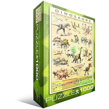 Dinosaurs Puzzle, 1000 Pieces