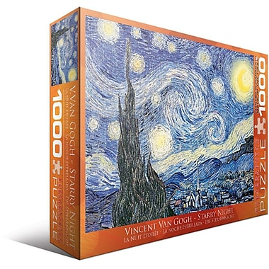 Starry Night by Vincent Van Gogh Puzzle, 1000 Pieces
