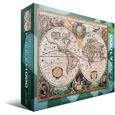 Antique World Map Puzzle, 1000 Pieces