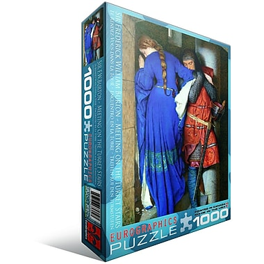 Meeting Turret Stairs by Frederick William Burton Puzzle, 1000 Pieces