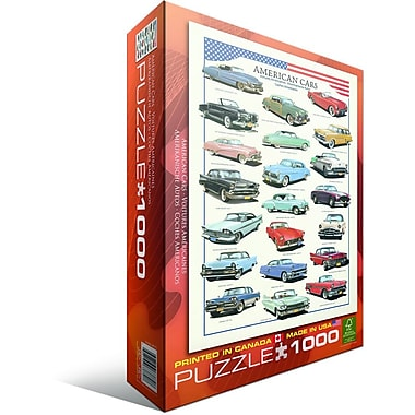 American Cars of the Fifties Puzzle, 1000 Pieces