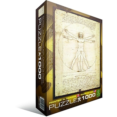 Vitruvian Man by Leonard Da Vinci Puzzle, 1000 Pieces