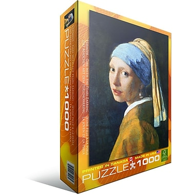 Girl with A Pearl Earring by Vermeer Puzzle, 1000 Pieces
