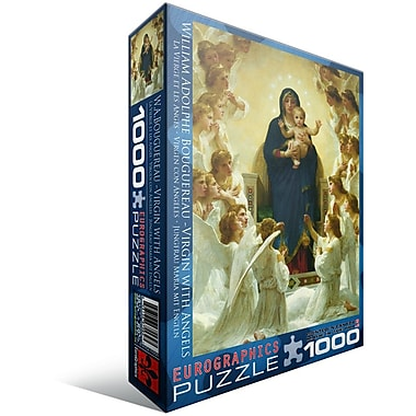 Virgin with Angels by William Bouguereau Puzzle, 1000 Pieces