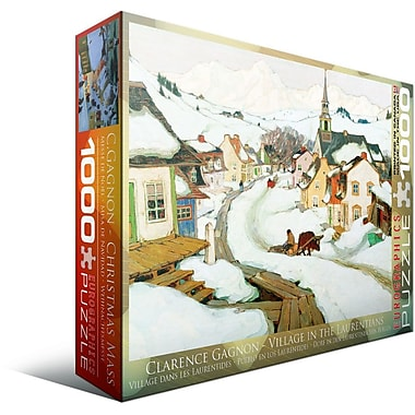 Village Laurentides by Clarence Gagnon Puzzle, 1000 Pieces