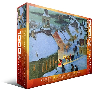 Christmas Mass by Clarence Gagnon Puzzle, 1000 Pieces