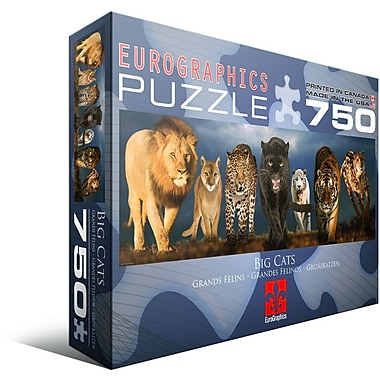 Big Cats Jigsaw Puzzle, 750 Pieces