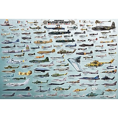 Evolution of Military Aircraft Puzzle, 2000 Pieces
