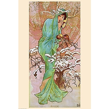 Winter Art Print Poster by Mucha , 22