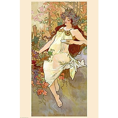 Fall Art Print Poster by Mucha , 24