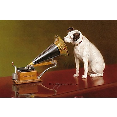 His Master's Voice Ad Art Print Poster, 24