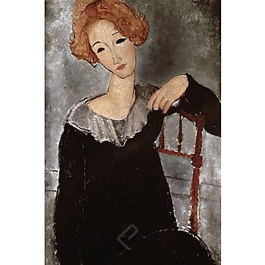 Modigliani Woman with Red Hair Art Print Poster, 24