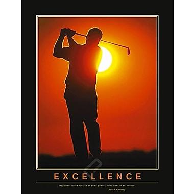 Affiche de motivation, Excellence, 24 x 36 po