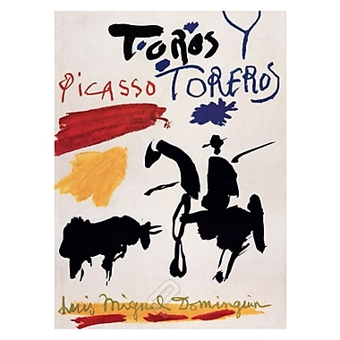 Picasso Bull with Bullfighter Art Print Poster, 36