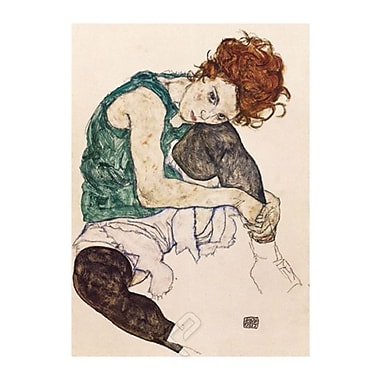 Schiele The Artist's Wife Poster, 23.75