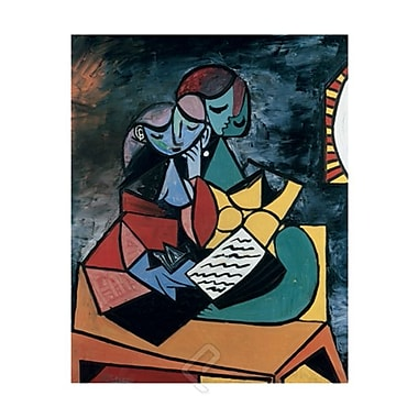 Picasso Reading Poster, 23 5/8