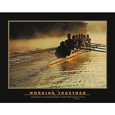 Motivational Working Together Poster, 27 5/8