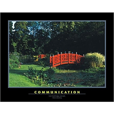 Affiche de motivation, Communication, 23 5/8 x 31 1/2 po