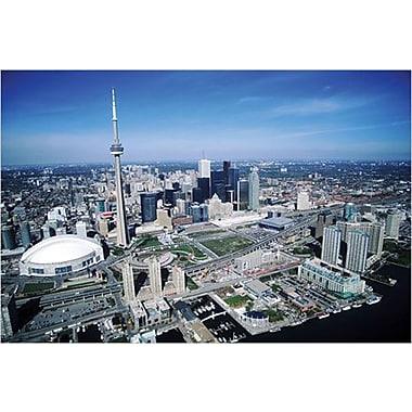 Vue aérienne de Toronto, affiche, 36 x 24 po