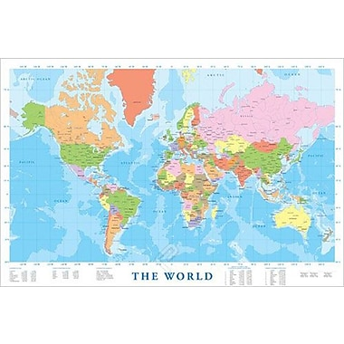Modern Map of the World Poster, 24