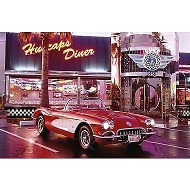 Corvette 1958 at Diner Poster, 24