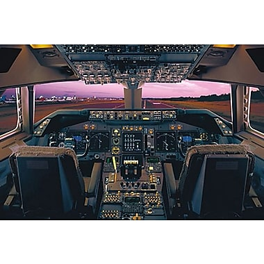 Airplane-Boeing 747-400 Deck, Stretched Canvas, 24
