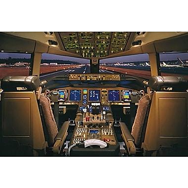 Cabine de pilotade d'un Boeing 777-200, toile tendue, 24 x 36 po