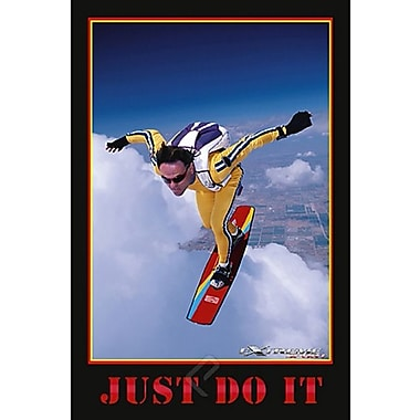 Skyboarding Just Do It Poster, 24
