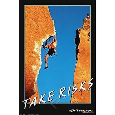 Mountain Climbing Take Risks Poster, 24
