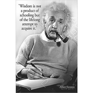 Einstein, « Wisdom », affiche, 24 x 36 po