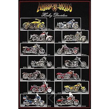 Harley Davidson Chart Poster, 24