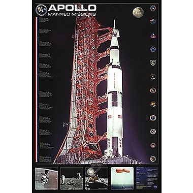 Apollo Manned Missions Poster, 24