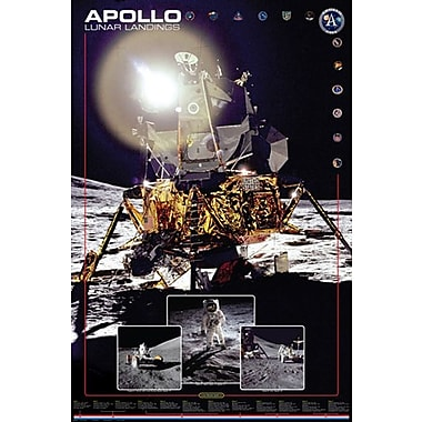 Apollo Lunar Landings Poster, 24