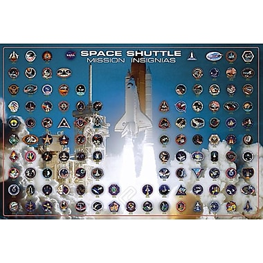 Space ShuttleMission Insignia Poster, 24