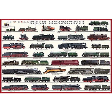 Steam Locomotives Poster, 24