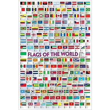 Flags of the World Poster, 24