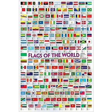 Drapeaux du monde, affiche, 24 x 36 po